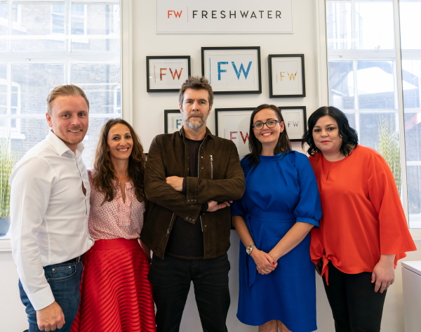 Rhod Gilbert and the Freshwater team